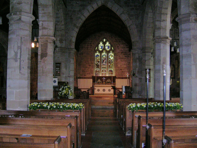 Inside St John Baptist Church, Claines, Worcestershire