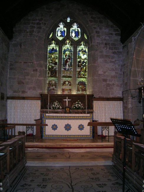 The Main Altar at St John Baptist Church, Claines, Worcestershire