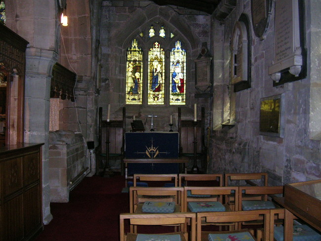 Side Altar at St John Baptist Church, Claines, Worcestershire