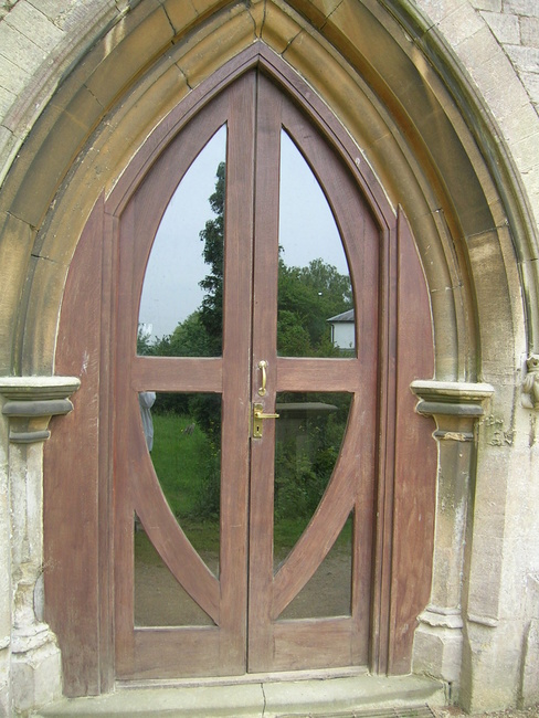 Doorway to Coaley Parish Church