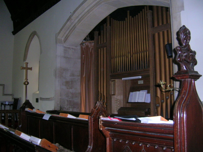 The Organ, Coaley Church, Gloucestershire