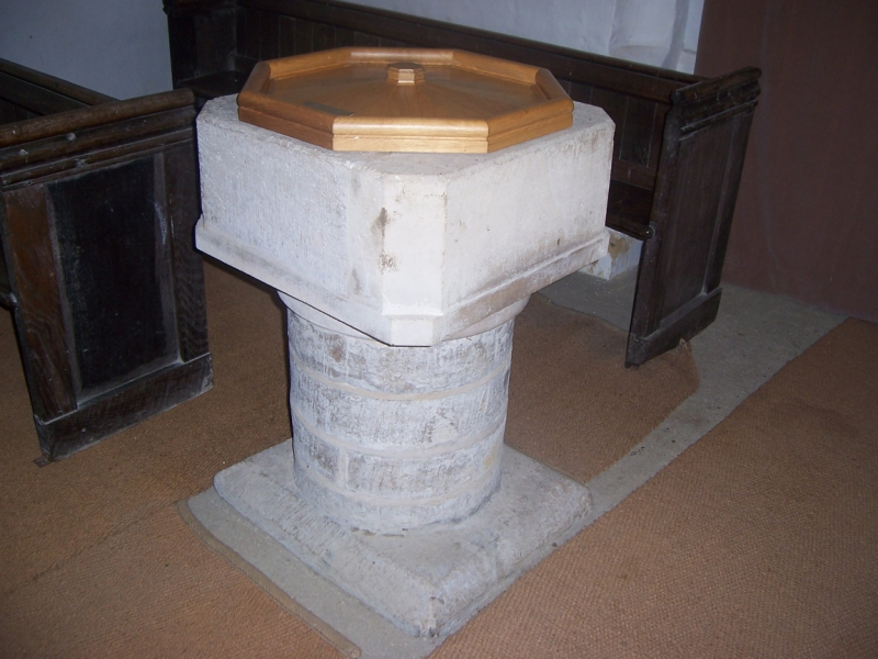The Font, St Botolph's Church, Hadstock