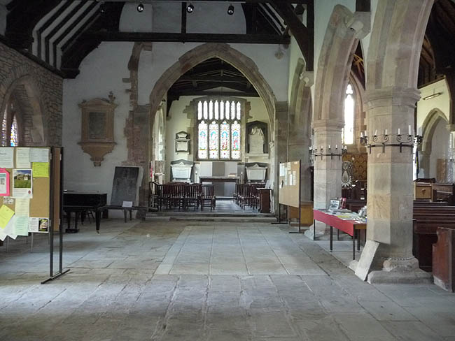 Inside All Saints Church, Newland, Gloucestershire