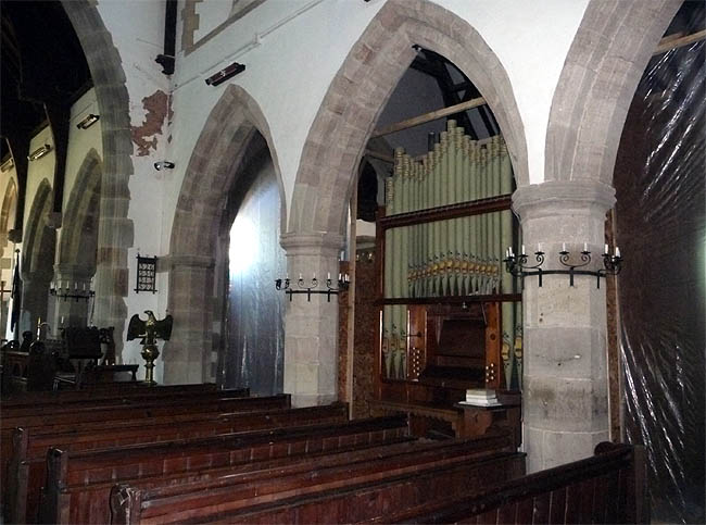 The Organ in All Saints Church, Newland, Gloucestershire