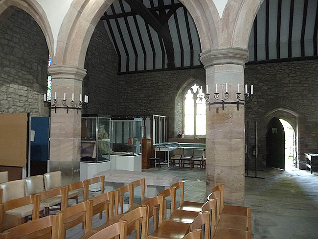 Inside the Parish Church at Newland, Gloucestershire