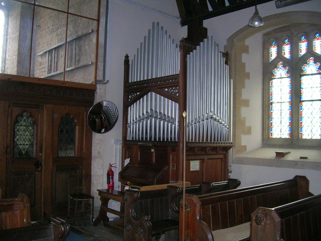 The Organ, Rockhampton Church, Gloucestershire