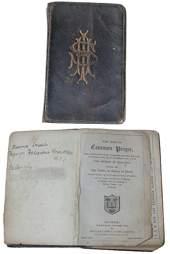 Prayer & Hymn Book which once belonged to Florence Smale
