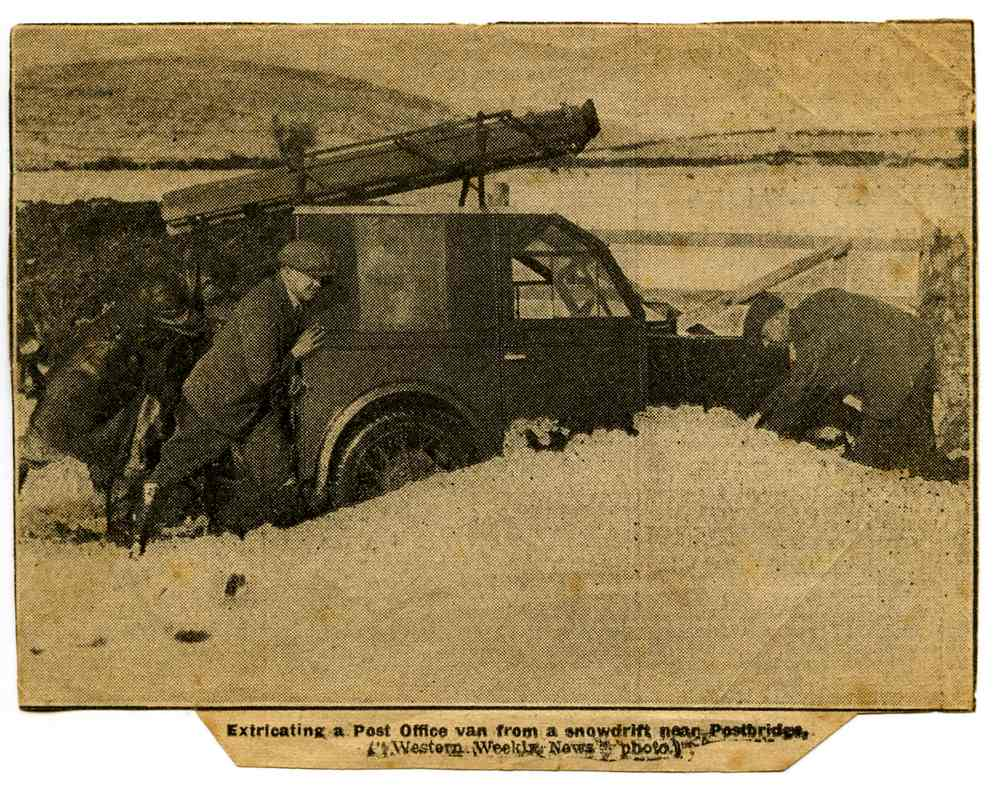 Charles Hibbitt's P.O. Telephone Engineers' Van Stuck in a Snowdrift
