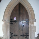 Doorway inside the Porch - Coaley Parish Church