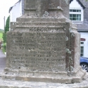 The base of the War Memorial, Coaley, Gloucestershire