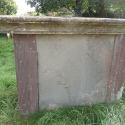 Illegible side of John Fryer & Mary King Tomb