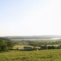 Panoramic view of Overton, Arlingham, from Barrow Hill