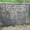 Headstone of Richard Fryer (b abt 1845) and wife, Rebecca (nee Fisher)