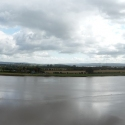 Panoramic view of Arlingham taken from Newnham
