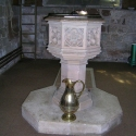 The Font at St John Baptist Church, Claines, Worcestershire