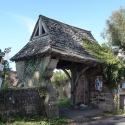 The Lych Gate at the entrance to the Churchyard at Newland, Glos.