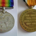 Henry James Weaver's World War I Medals (Reverse)