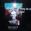 Screen at the Imperial War Museum depicting 716 Pte. Robert Jones